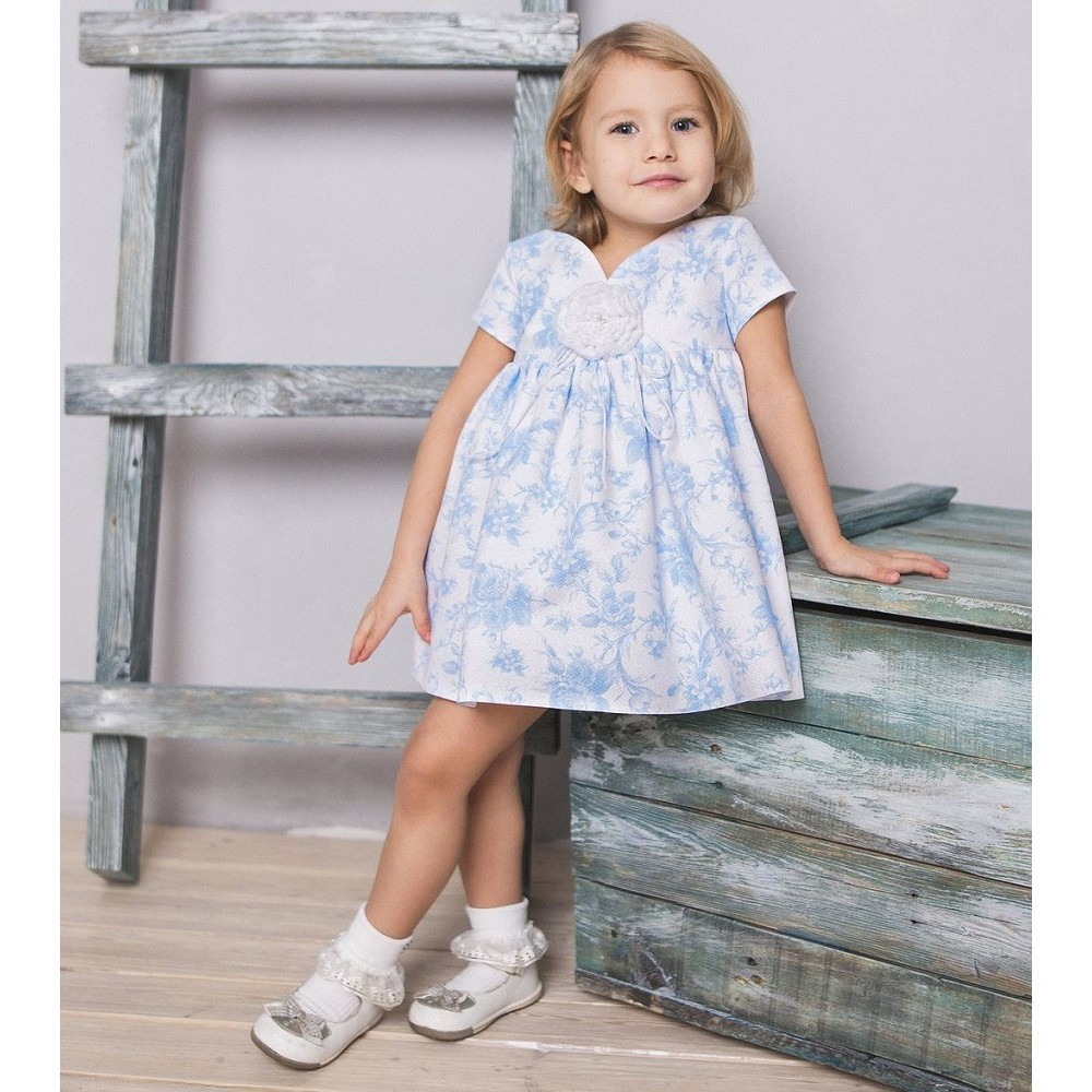 Dress with a rose 1722129 blue