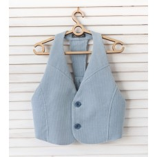 Vest with an open back 1721041 blue