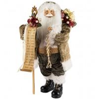 Дед мороз в мягкой шубке с мешком 46 см