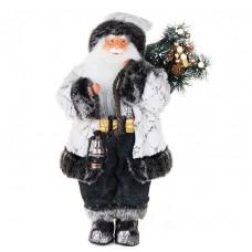 Дед мороз в белой шубе с фонариком 48 см