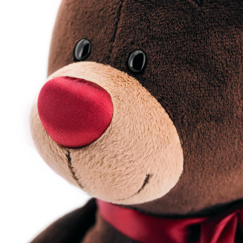 Мягкая игрушка Мишка Choco с сердцем 20 см
