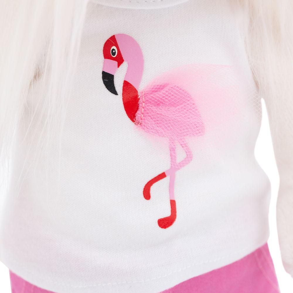Мягкая игрушка Lucky Mimi цвет настроения Фламинго 25 см