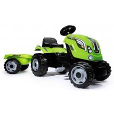 Трактор Farmer XL с прицепом зеленый