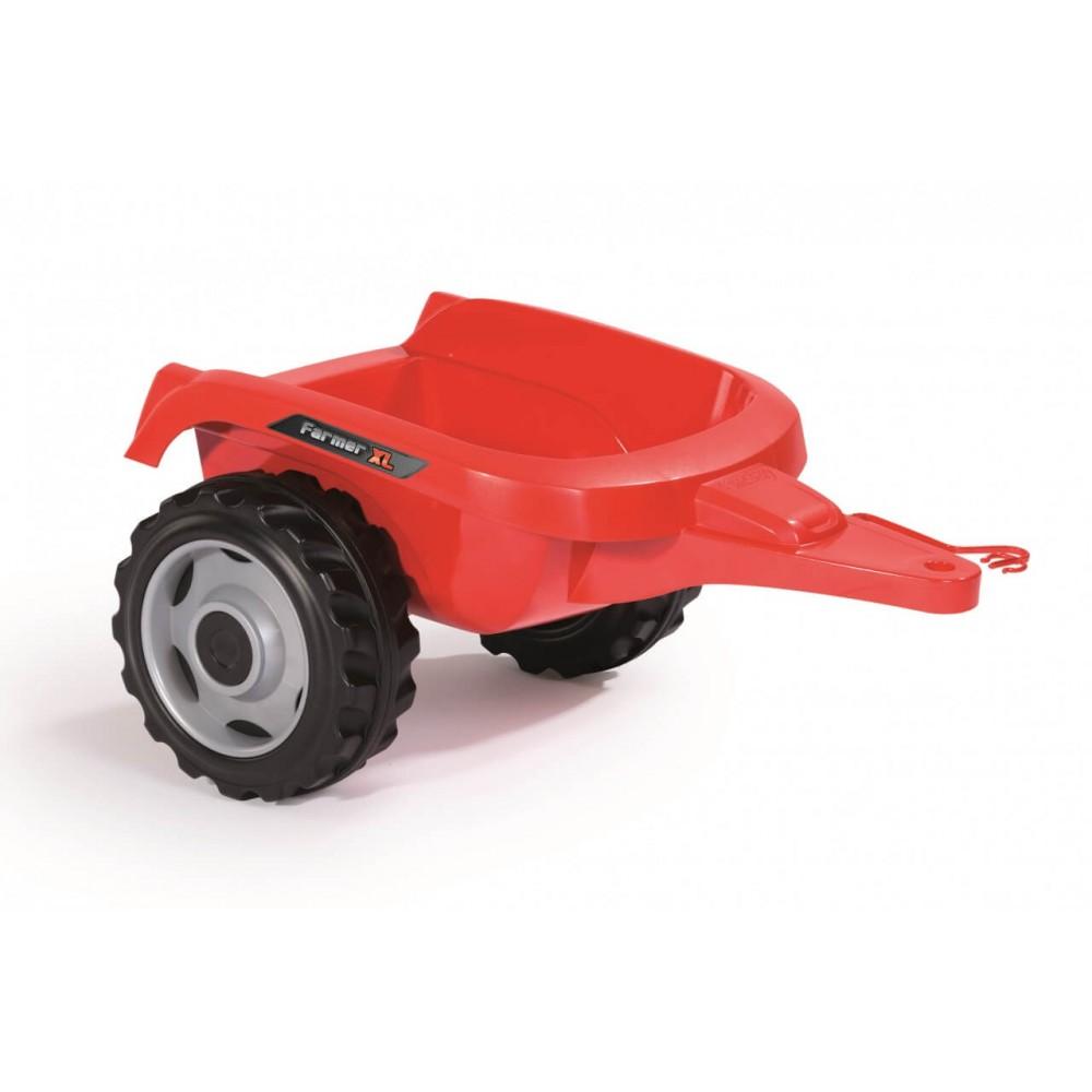 Трактор Farmer XL с прицепом красный