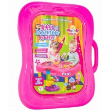 Масса для лепки STRATEG в чемодане Maxi Ice cream maker розовый