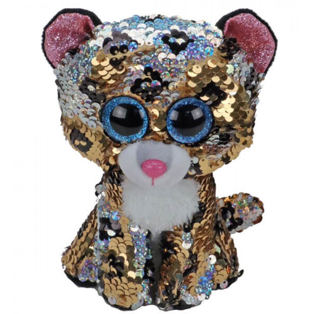 Soft toy TY leopard with sequins 15 cm