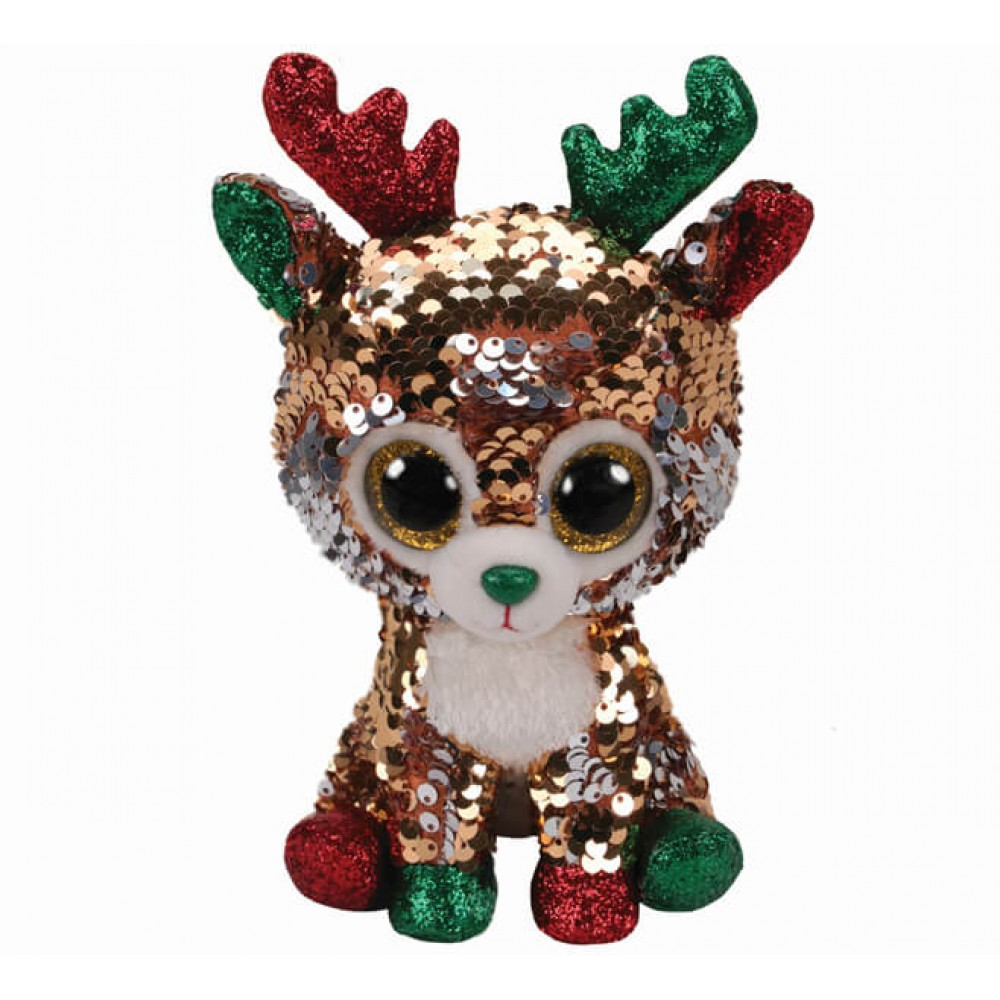 Soft toy TY deer Tegan with sequins 15 cm