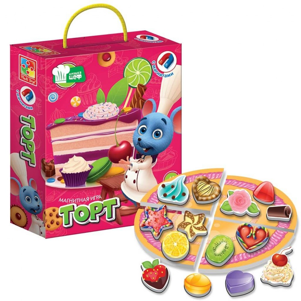 Magnetic game VLADI TOYS Cake Art. VT3004-07
