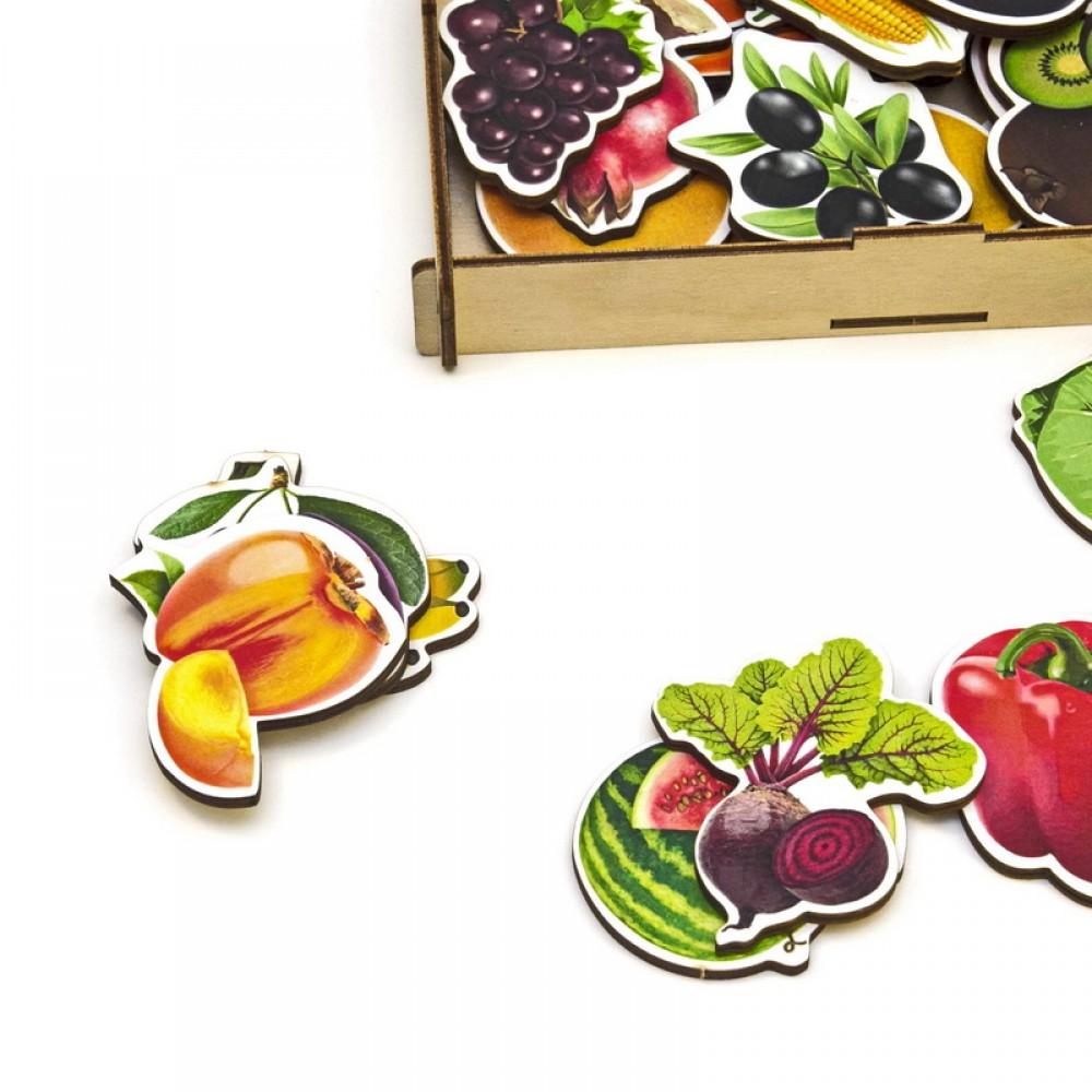 Набор WOODLAND Овощи, фрукты, ягоды (дер.коробка) 111401