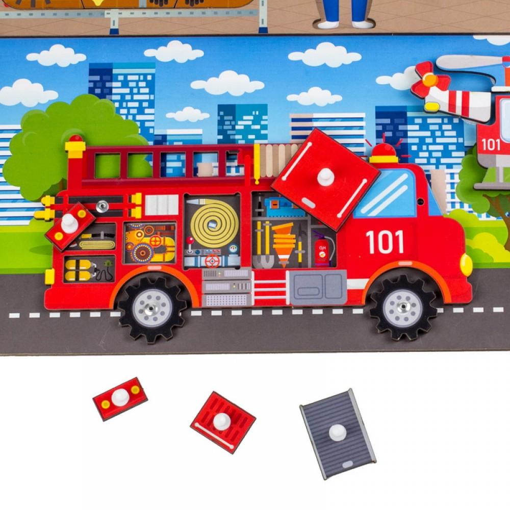 Бизиборд WOODLAND Пожарная служба 112305