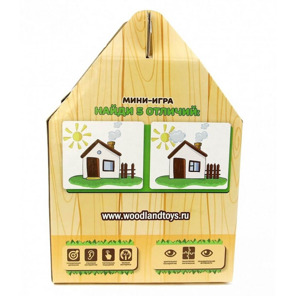 Сортер деревянный Домик Букашки