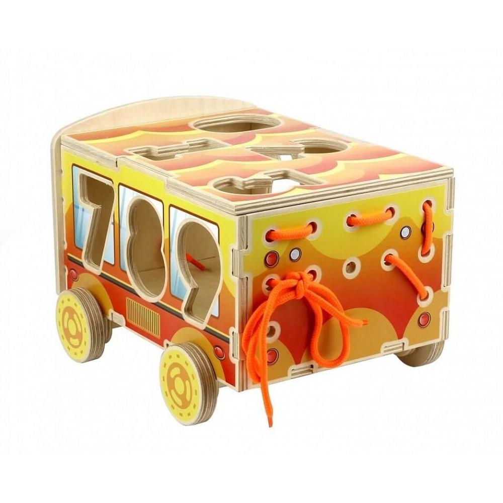 Сортер деревянный Машина Цифры