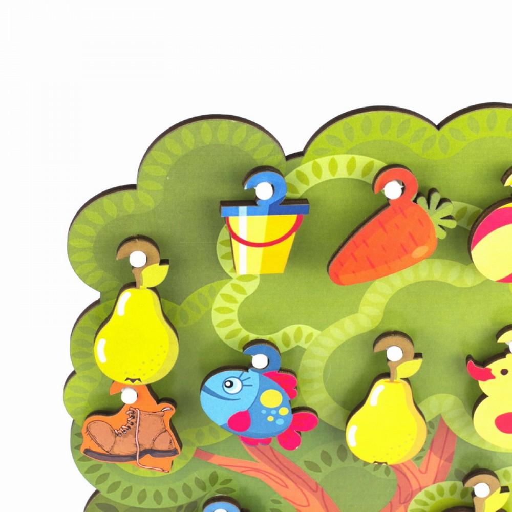 Сортер WOODLANDTOYS Что на дереве растет 124101