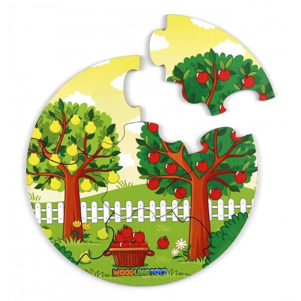 Деревянный пазл Еда