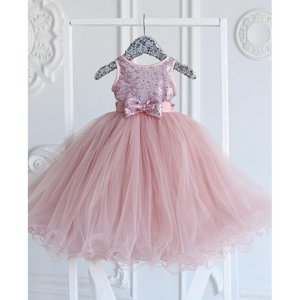 Dress Stefania, powdery